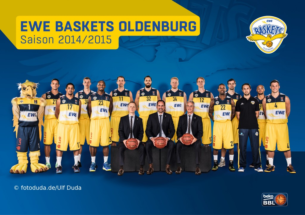 EWE Baskets Oldenburg Teamportrait