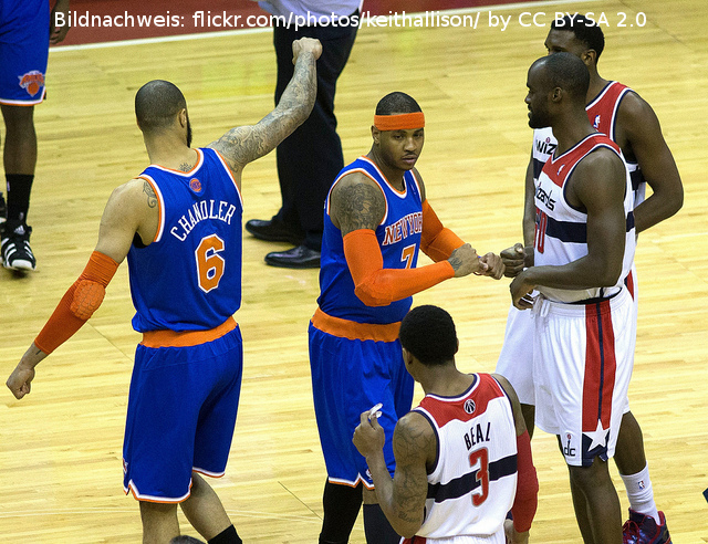 New York Knicks Tyson Chandler Carmelo Anthony