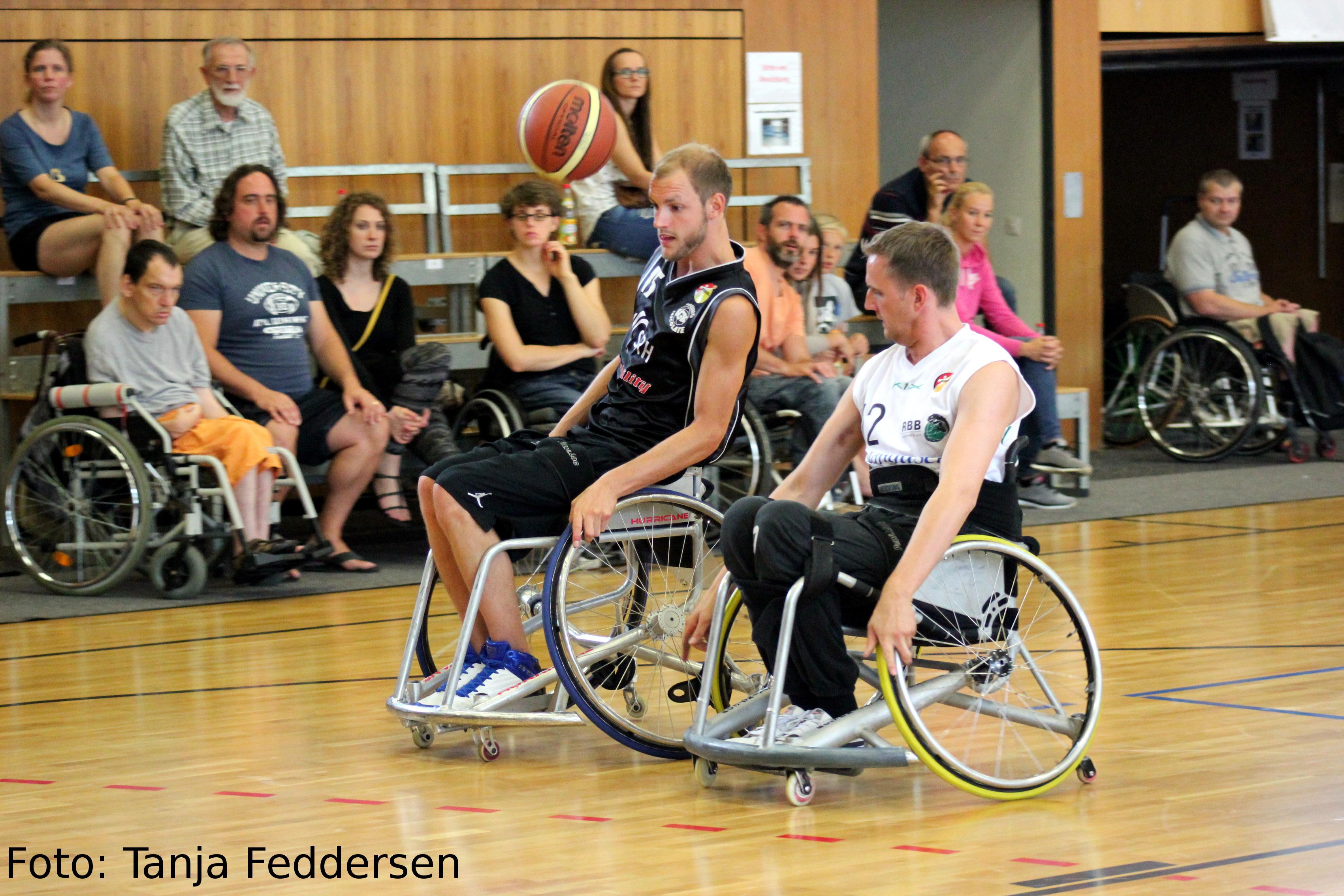 Blick auf die Vorbereitungen zur Rollstuhlbasketball Weltmeisterschaft in Hamburg
