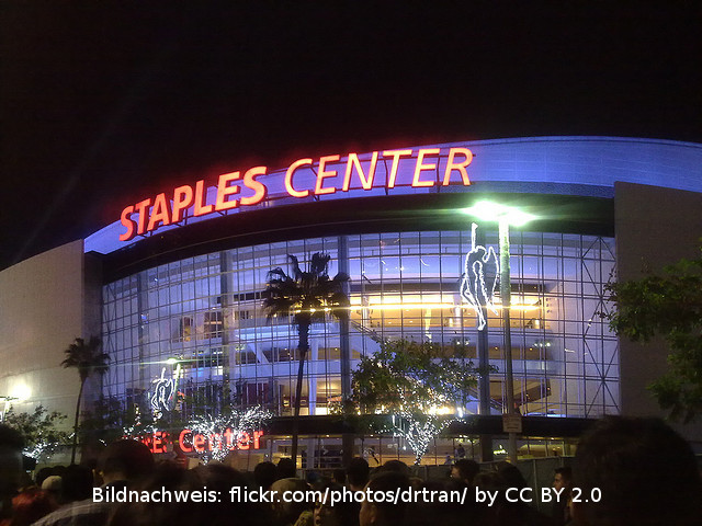 Das Staples Center in Los Angeles