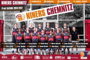 DE - Teamfoto - NINERS Chemnitz 2016-2017