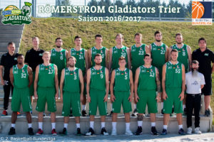 DE - Teamfoto - RÖMERSTROM Gladiators Trier 2016-2017