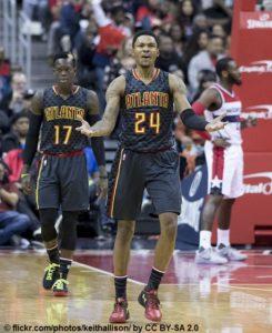 US - NBA - Atlanta Hawks - Dennis Schröder und Kent Bazemore
