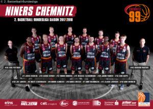 DE - ProA - Teamfoto - NINERS Chemnitz 2017-2018