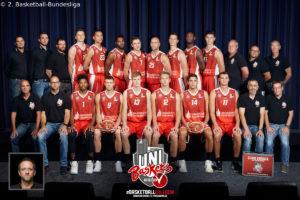 DE - ProA - Teamfoto - Uni Baskets Paderborn 2017-2018