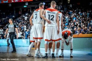 Eurobasket 2017 - Action - Deutschland - Team auf dem Court
