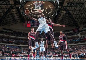 US - Action - Dallas Mavericks - Portland Trail Blazers