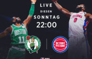 NBA Sundays – Detroit Pistons vs Boston Celtics