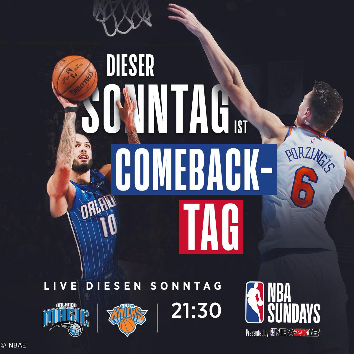 NBA Sundays – Blick auf die Partie New York Knicks vs Orlando Magic ...