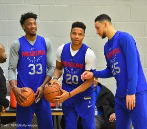 US - NBA - Philadelphia 76ers - Robert Covington - Markelle Fultz - Ben Simmons