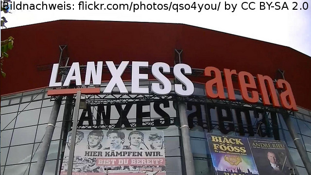 Die Kölner Lanxess Arena
